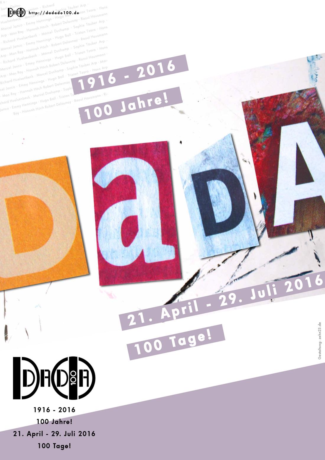 dadado100 Plakat Programm Flyer